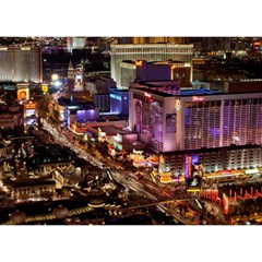 Las Vegas 2 Birthday Cake 3d Greeting Card (7x5)  by trendistuff