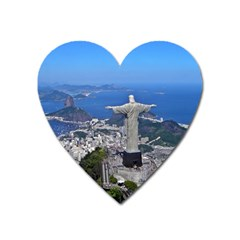 Christ On Corcovado Heart Magnet by trendistuff