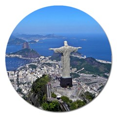 Christ On Corcovado Magnet 5  (round) by trendistuff