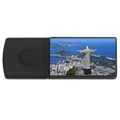 Christ On Corcovado Usb Flash Drive Rectangular (4 Gb)  by trendistuff