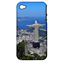 Christ On Corcovado Apple Iphone 4/4s Hardshell Case (pc+silicone) by trendistuff
