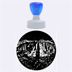 Volcano Cave Rubber Round Stamps (large) by trendistuff