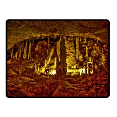 Volcano Cave Double Sided Fleece Blanket (small)  by trendistuff