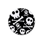 Cute Skulls Rubber Round Coaster (4 pack)  Front