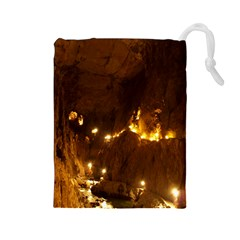 Skocjan Caves Drawstring Pouches (large)  by trendistuff