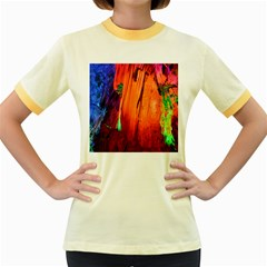 Reed Flute Caves 4 Women s Fitted Ringer T Shirts