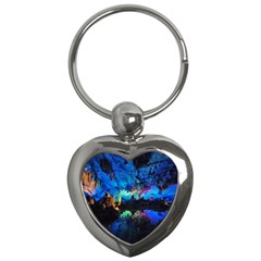 Reed Flute Caves 2 Key Chains (heart)  by trendistuff
