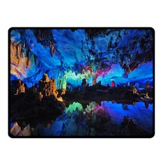 Reed Flute Caves 2 Double Sided Fleece Blanket (small)