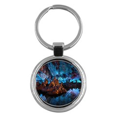 Reed Flute Caves 1 Key Chains (round)  by trendistuff