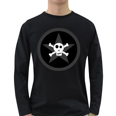 Star Skull Long Sleeve Dark T Shirts by waywardmuse