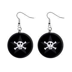 Star Skull Mini Button Earrings by waywardmuse