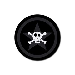 Star Skull Rubber Round Coaster (4 Pack)  by waywardmuse