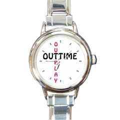 Outtime / Outplay Round Italian Charm Watches
