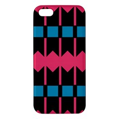 Rhombus And Stripes Pattern			apple Iphone 5 Premium Hardshell Case by LalyLauraFLM