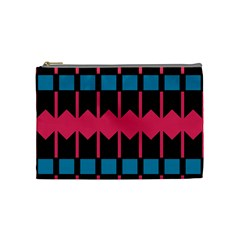Rhombus And Stripes Pattern Cosmetic Bag by LalyLauraFLM