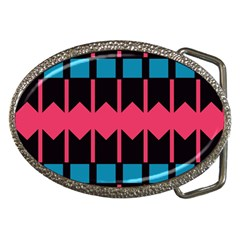 Rhombus And Stripes Pattern			belt Buckle by LalyLauraFLM