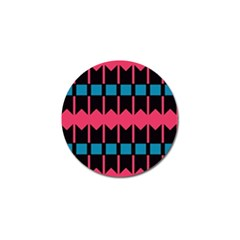 Rhombus And Stripes Pattern			golf Ball Marker (4 Pack) by LalyLauraFLM