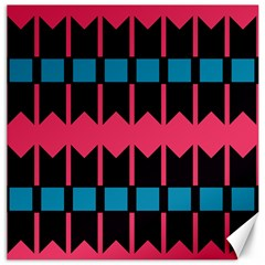 Rhombus And Stripes Pattern			canvas 12  X 12  by LalyLauraFLM