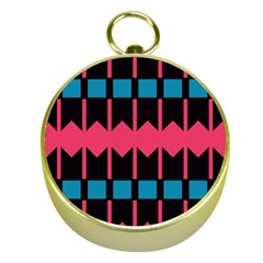 Rhombus And Stripes Pattern			gold Compass by LalyLauraFLM