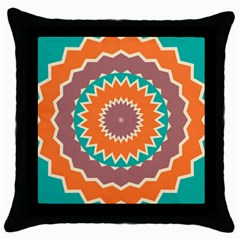 Hypnotic Star			throw Pillow Case (black) by LalyLauraFLM