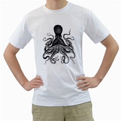 Vintage Octopus Men s T Shirt (white)  by waywardmuse