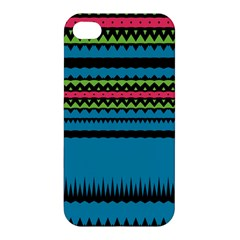Chevrons And Triangles			apple Iphone 4/4s Premium Hardshell Case by LalyLauraFLM