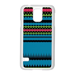 Chevrons And Triangles			samsung Galaxy S5 Case (white) by LalyLauraFLM