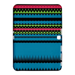 Chevrons And Triangles			samsung Galaxy Tab 4 (10 1 ) Hardshell Case by LalyLauraFLM