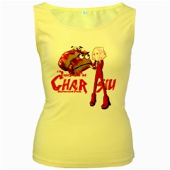 Michael Andrew Law s Mal Girl & Mr Bbq Pork Women s Yellow Tank Tops