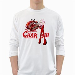 Michael Andrew Law s Mal Girl & Mr Bbq Pork White Long Sleeve T-shirts by michaelandrewlaw