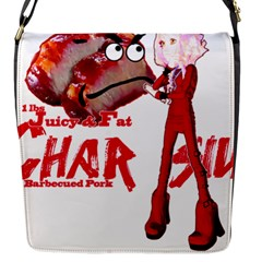 Michael Andrew Law s Mal Girl & Mr Bbq Pork Flap Messenger Bag (s) by michaelandrewlaw