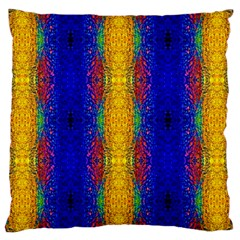 Cool  Abstract Neon Pattern Large Cushion Cases (one Side)  by Costasonlineshop