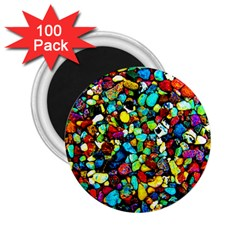 Colorful Stones, Nature 2 25  Magnets (100 Pack)  by Costasonlineshop