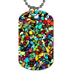 Colorful Stones, Nature Dog Tag (two Sides) by Costasonlineshop