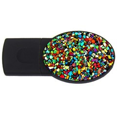 Colorful Stones, Nature Usb Flash Drive Oval (4 Gb)  by Costasonlineshop