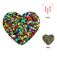 Colorful Stones, Nature Playing Cards (heart)  by Costasonlineshop