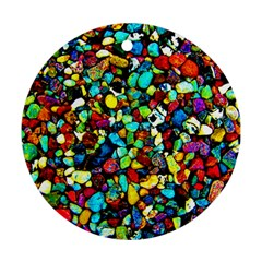 Colorful Stones, Nature Round Ornament (two Sides)  by Costasonlineshop