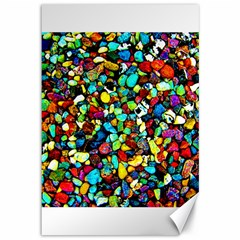 Colorful Stones, Nature Canvas 12  X 18   by Costasonlineshop