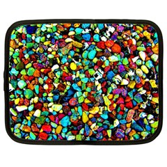 Colorful Stones, Nature Netbook Case (xl)  by Costasonlineshop