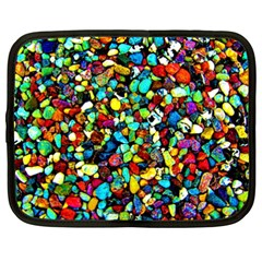 Colorful Stones, Nature Netbook Case (xxl)  by Costasonlineshop