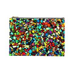 Colorful Stones, Nature Cosmetic Bag (large)  by Costasonlineshop