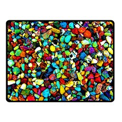 Colorful Stones, Nature Fleece Blanket (small) by Costasonlineshop