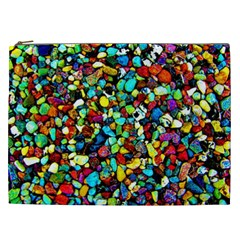 Colorful Stones, Nature Cosmetic Bag (xxl)  by Costasonlineshop