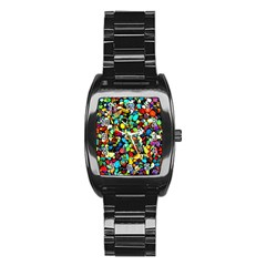 Colorful Stones, Nature Stainless Steel Barrel Watch
