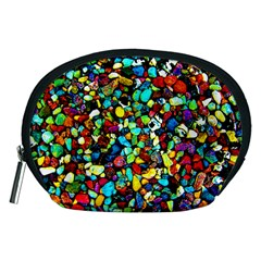 Colorful Stones, Nature Accessory Pouches (medium)