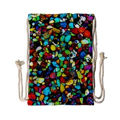 Colorful Stones, Nature Drawstring Bag (small) by Costasonlineshop