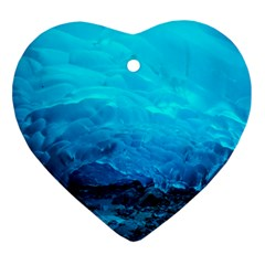 Mendenhall Ice Caves 3 Ornament (heart)  by trendistuff