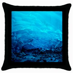 Mendenhall Ice Caves 3 Throw Pillow Cases (black) by trendistuff
