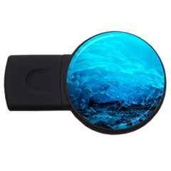 Mendenhall Ice Caves 3 Usb Flash Drive Round (2 Gb)  by trendistuff