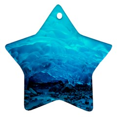 Mendenhall Ice Caves 3 Star Ornament (two Sides)